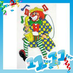 Wandbild Clown Mit Saxophon Karneval Dekoration Zirkus Ebay