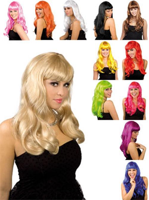 WoW-Peruecke-Party-Girl-edel-Chique-Langhaar-diverse-Farben-Faschingsperuecke