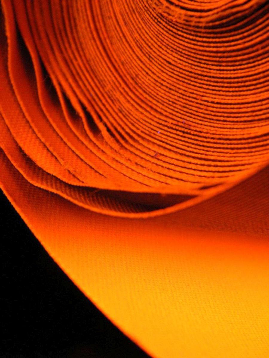Lfm Schwarzlicht Nylongewebe 2-L Laminat Leucht-Orange
