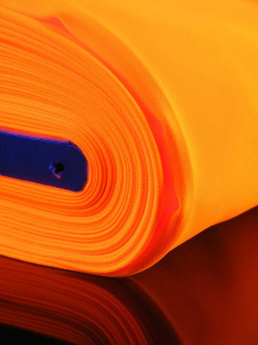 1lfm Schwarzlicht Stoff Burlinton Polyester Neon Orange