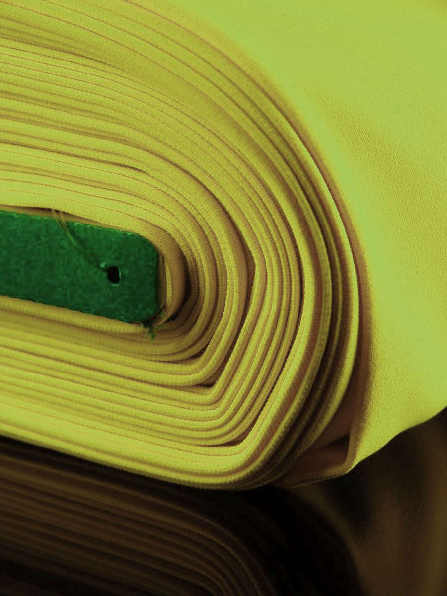 1lfm Schwarzlicht Stoff Burlinton Polyester Neon Gelb