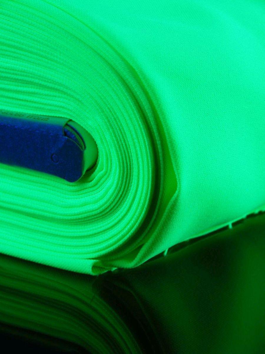 1lfm Schwarzlicht Stoff Burlinton Polyester Neon Grün