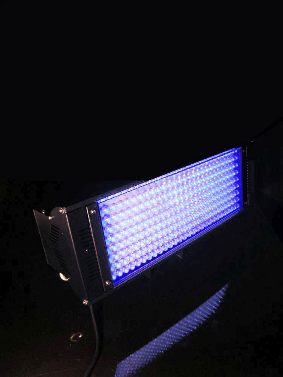 schwarzlicht spot led ml 56 cob uv 80w schwarz blacklight fluter floorspot ebay. Black Bedroom Furniture Sets. Home Design Ideas