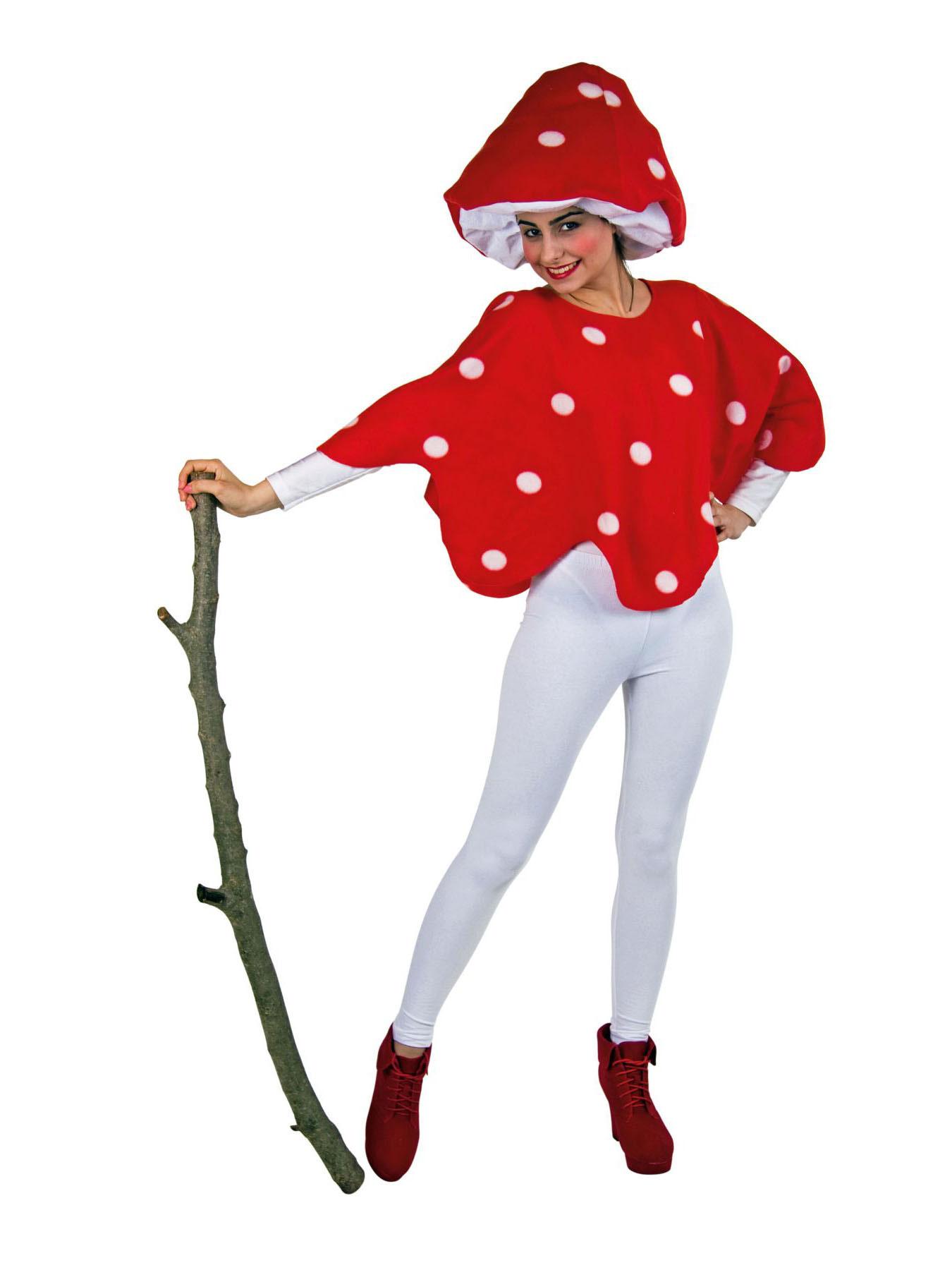 Kostüm Für Erwachsene Set Fliegenpilz Einheitsgröße Karneval Kostüm
