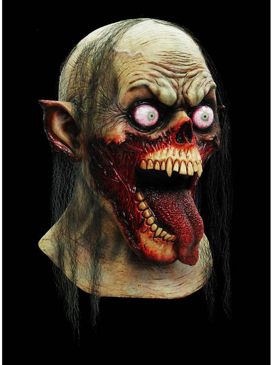 zombie samurai maske latex halloween horror tod krieger ebay. Black Bedroom Furniture Sets. Home Design Ideas