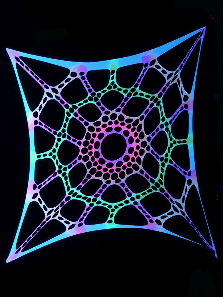 """3x3m schwarzlicht segel deko stretch spandex """"psychedelic, Hause und Garten"""