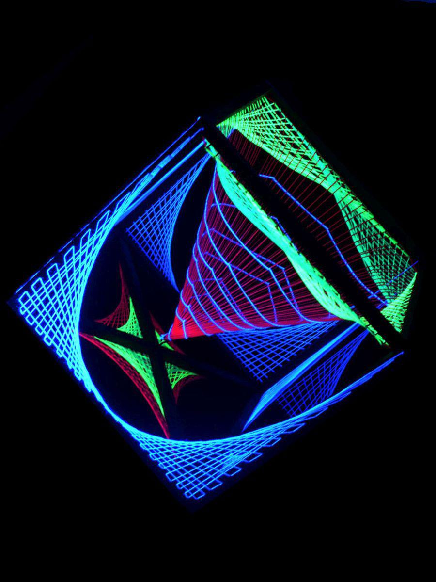 3x3m 3D String Art Deko Stern
