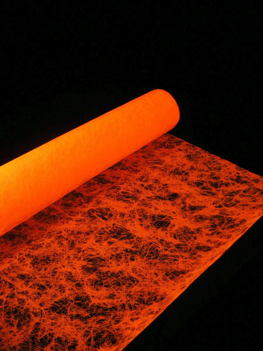 1lfm Schwarzlicht Dekovlies Fein 60cm Neonorange