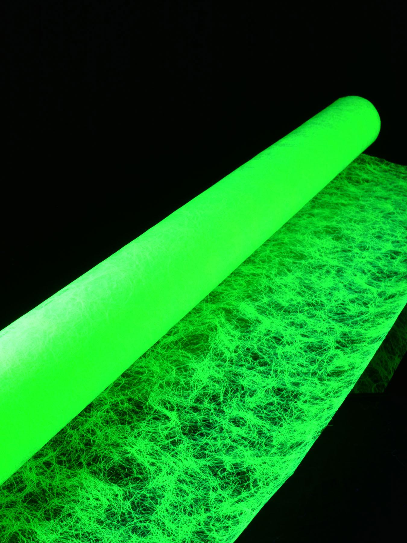 1lfm Schwarzlicht Dekovlies Fein 120cm Neongelb