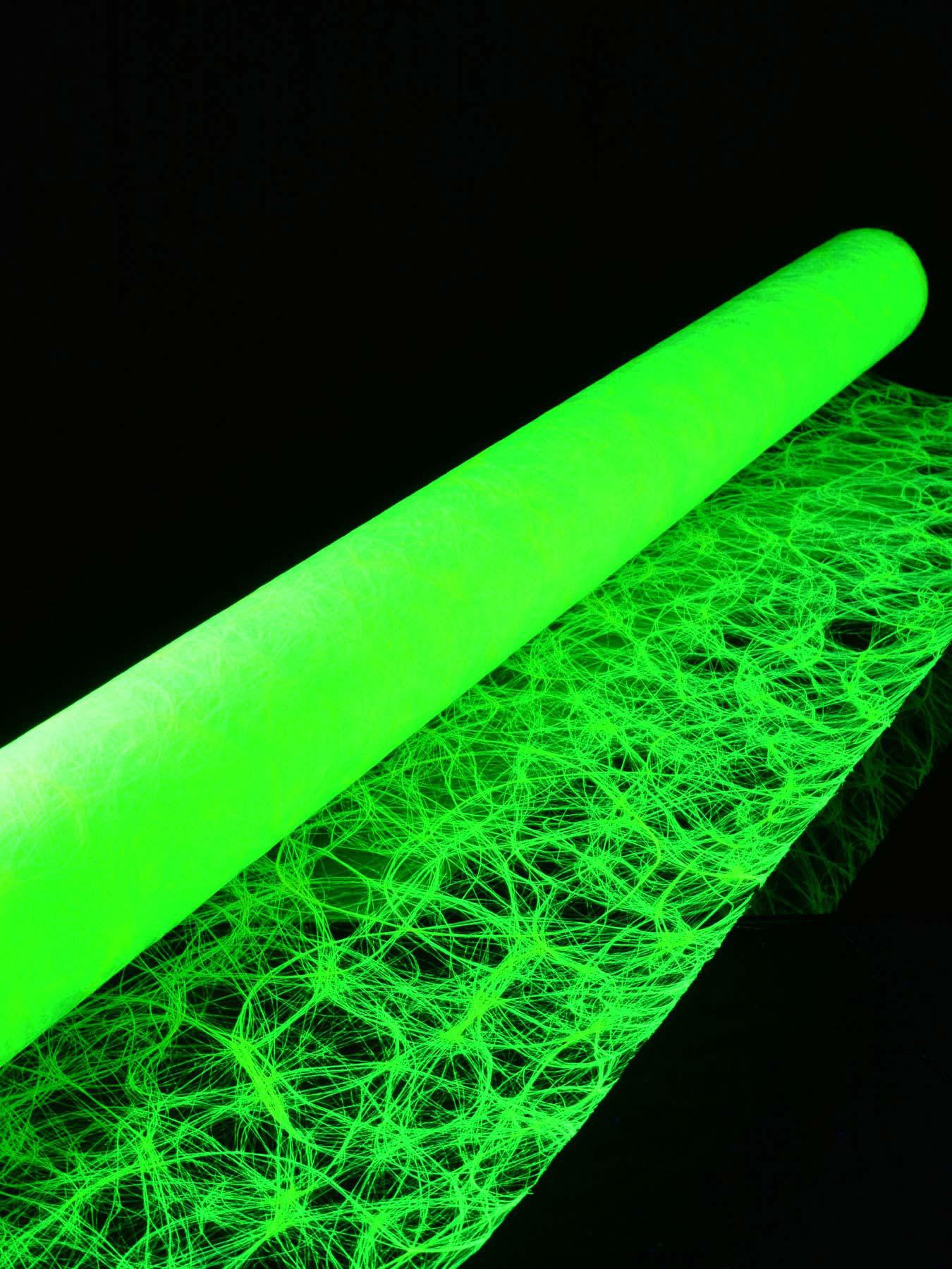 1lfm Schwarzlicht Dekovlies Grob 120cm Neongelb