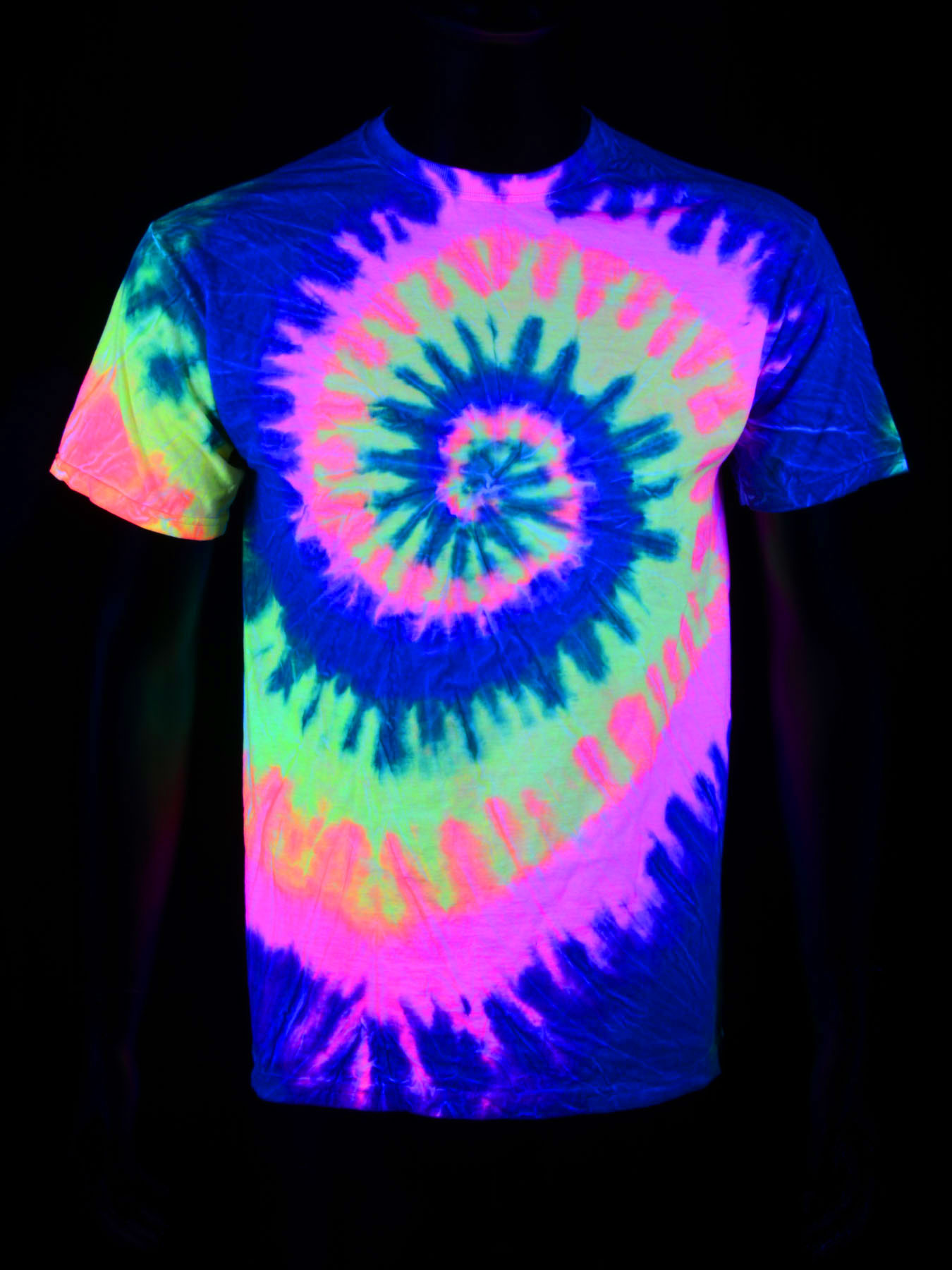 schwarzlicht t shirt sport damen herren kinder blacklight neon junge m dchen ebay. Black Bedroom Furniture Sets. Home Design Ideas