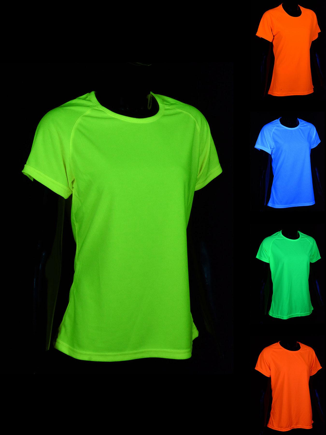 schwarzlicht t shirt sport damen herren kinder blacklight neon junge m dchen ebay. Black Bedroom Furniture Sets. Home Design Ideas