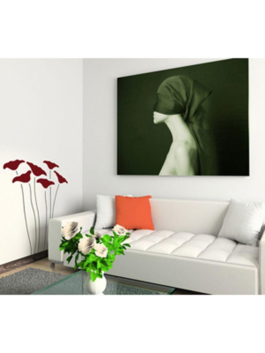 wandschablone xxl format mohnblumen tapeten deko ebay. Black Bedroom Furniture Sets. Home Design Ideas