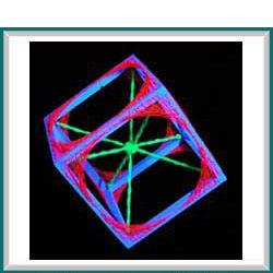 schwarzlicht 3d string art gen würfel uv aktiv goa deko | ebay, Garten und Bauen